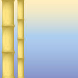 Dry bamboo. On an abstract background. vector illustration Stock Images