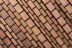 Dry bamboo texture in the form of small rectangles collection of vegetable and natural fibers. Foreground royalty free stock images