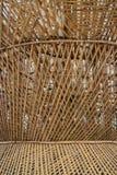 Dry bamboo of wall exterior Stock Photos