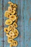 Dry banana chips Royalty Free Stock Photos
