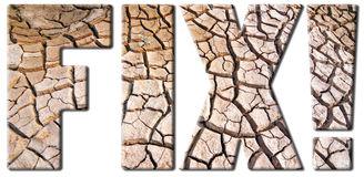 Dry and barren land Royalty Free Stock Photography