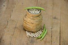 Dry Bean with Bean Hulls Stock Photos