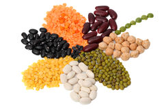 Dry bean products Royalty Free Stock Image