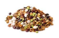 Dry beans and vegetables soup mix stock photos