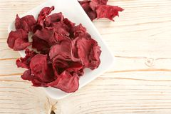 Dry beetroots Royalty Free Stock Images