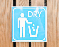 Dry bin post Stock Image