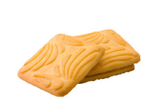 Dry biscuit. Isolated dry biscuit on a white background royalty free stock images