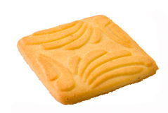 Dry biscuit. Isolated dry biscuit on a white background royalty free stock photo