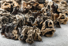 Dry black Chinese mushrooms Royalty Free Stock Image