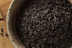 Dry Black Loose Leaf Tea Royalty Free Stock Photography