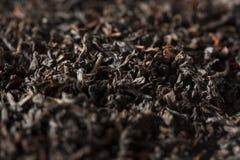 Dry Black Loose Leaf Tea Stock Photo