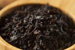 Dry Black Loose Leaf Tea Royalty Free Stock Image
