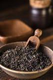 Dry black tea leaves Royalty Free Stock Photo