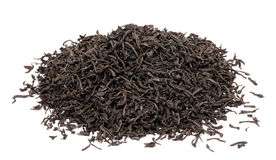 Dry black tea leaves isolated Royalty Free Stock Images