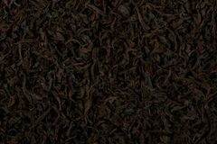 Dry black tea leaves texture background. Royalty Free Stock Photos
