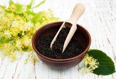 Dry black  tea Royalty Free Stock Image