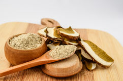 Dry Boletus in a kitchen Stock Image
