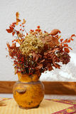 Dry bouquet in a pot Stock Image