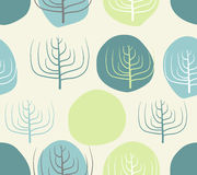 Dry branches and circles seamless Vector retro floral  Royalty Free Stock Photography