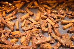 Dry bread crumbs Stock Photo