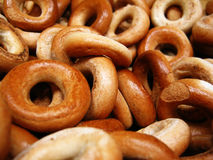 Dry bread-rings. Pile of dry bread-rings, close-up Royalty Free Stock Images