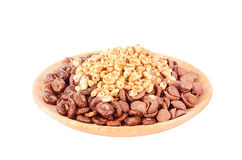Dry breakfast isolated on a white background Royalty Free Stock Photos
