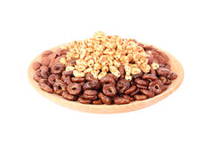 Dry breakfast isolated on a white background Royalty Free Stock Image