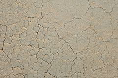 Clay cracked from heat Royalty Free Stock Photography