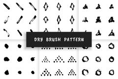 Dry brush pattern Royalty Free Stock Photography