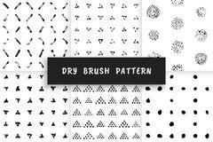 Dry brush pattern Royalty Free Stock Photos