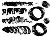 Dry brush smears Stock Images