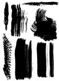Dry brush smears Royalty Free Stock Images