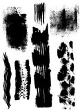 Dry brush smears. Vector hand drawn grunge dry brush smears Royalty Free Stock Images