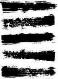 Dry brush strokes with a wide brush. Grunge black dry Stroke. Dry brush strokes with a wide brush. Brush line collection, set . Grunge black dry Stroke. Black Stock Images