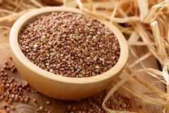 Dry buckwheat groats Royalty Free Stock Images