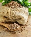 Dry buckwheat groats royalty free stock photography
