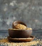 Dry bulgur wheat grains stock images