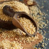 Dry bulgur wheat grains royalty free stock image