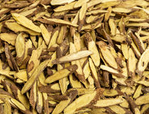 Dry burdock root Stock Photo