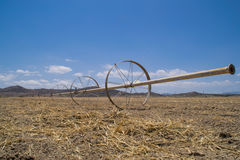 The dry California farmland. Royalty Free Stock Photography