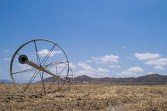 The dry California farmland. Royalty Free Stock Image