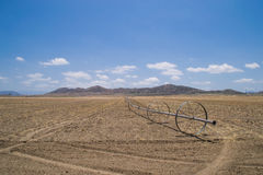 The dry California farmland. Royalty Free Stock Photos