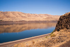 Dry Calm Clear Summer Day Columbia River Gorge Oregon Washington Stock Photos