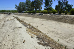 Dry canal. Stock Image