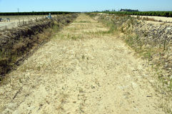 Dry canal. Royalty Free Stock Photos