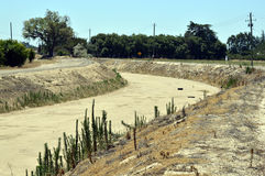 Dry canal. Stock Photos