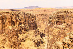 Dry Canyon. Looking into the Little Colorado River gorge in Arizona. On each side of the gorge there are steep canyon walls. On the bottom there is an almost Stock Photography