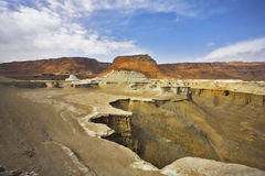 Dry canyon in mountains of the Dead Sea Stock Images