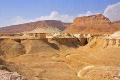 Dry canyon near to the Dead Sea Royalty Free Stock Photography