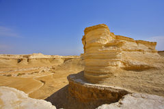 The dry canyons in desert Royalty Free Stock Photo